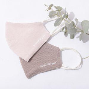 和紙マスク – ピンク & ブラウン